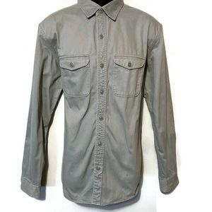 Old Navy Men's Heavy Gray Button Down